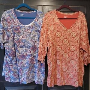 Catherines, Blouse, 3X, Lot of 2